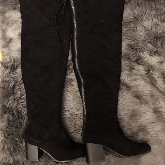5fbbe9c9d48b 60% off Nasty Gal Shoes - Nasty Gal Black Over The Knee Zip It Up ...